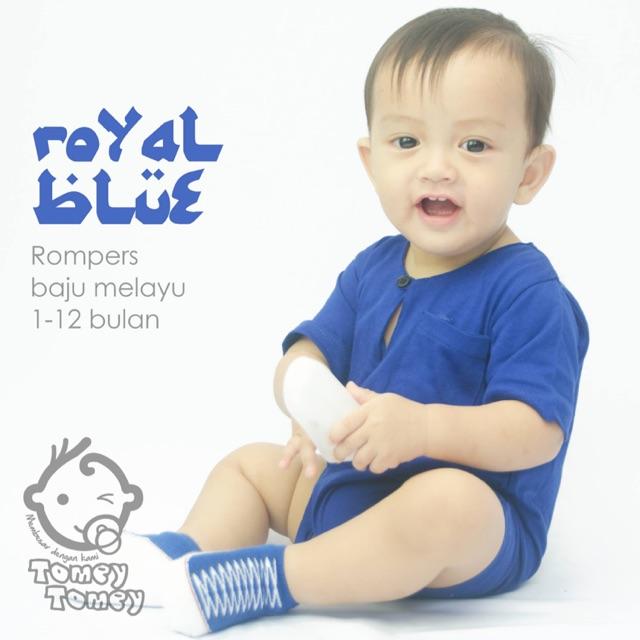 BAJOO ROMPERS BAJU MELAYU COLUMBIA BLUE  cdbee13997