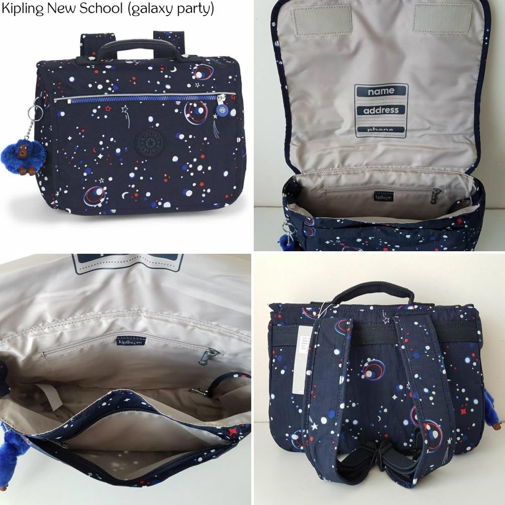NWT Kipling New School Medium Kids Girl Bagpack Backpack School Bag Punch Pink C