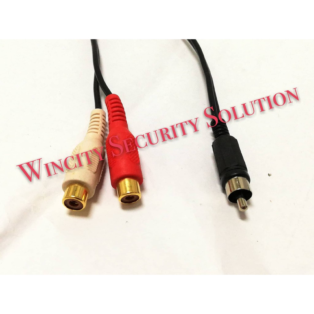 Y splitter 1 Female to 2 male Y Adapter A//V cable RCA phono Audio Video