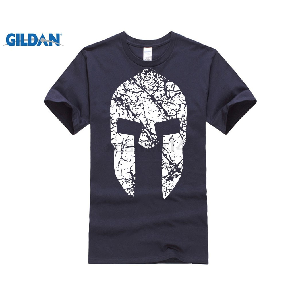 Diy Mens T Shirt Style Spartan Race 100 Percent Cotton Tees Casual Navy Shopee Malaysia