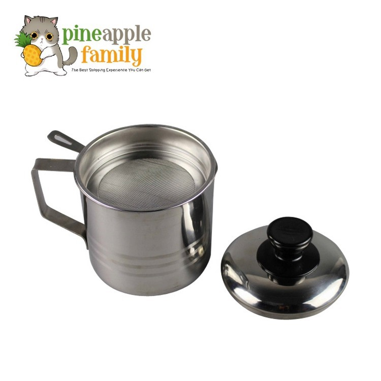 1.1L Stainless Steel Oil Container with Strainer