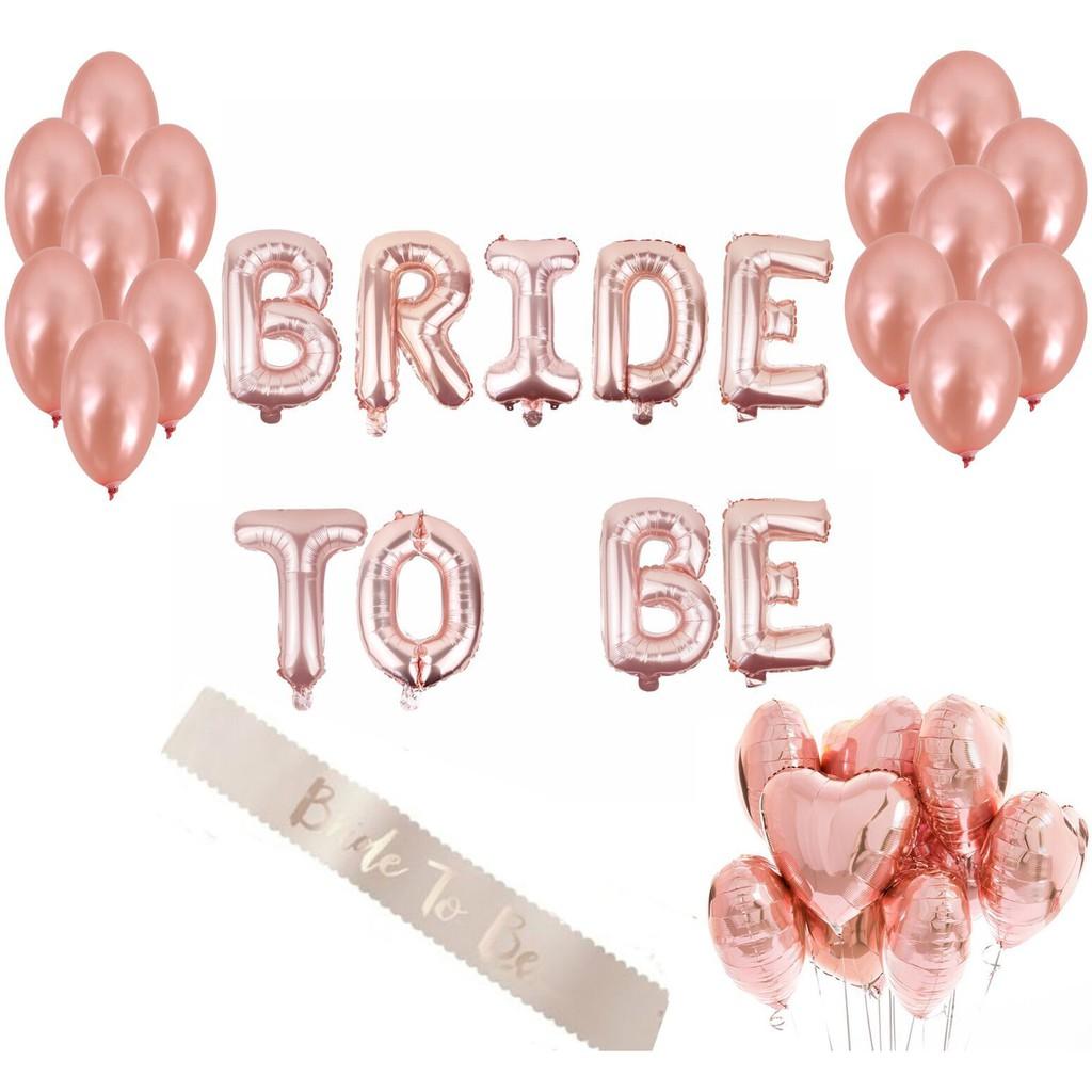 Bachelorette Party Decorations Bridal Shower Kit Supplies Bride Balloons Set