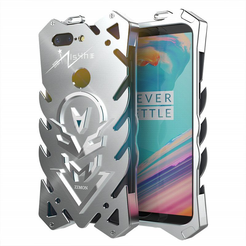 purchase cheap a0185 c7ef6 Zimon metal phone case for One plus 5T shockproof protective shell bumper  cover