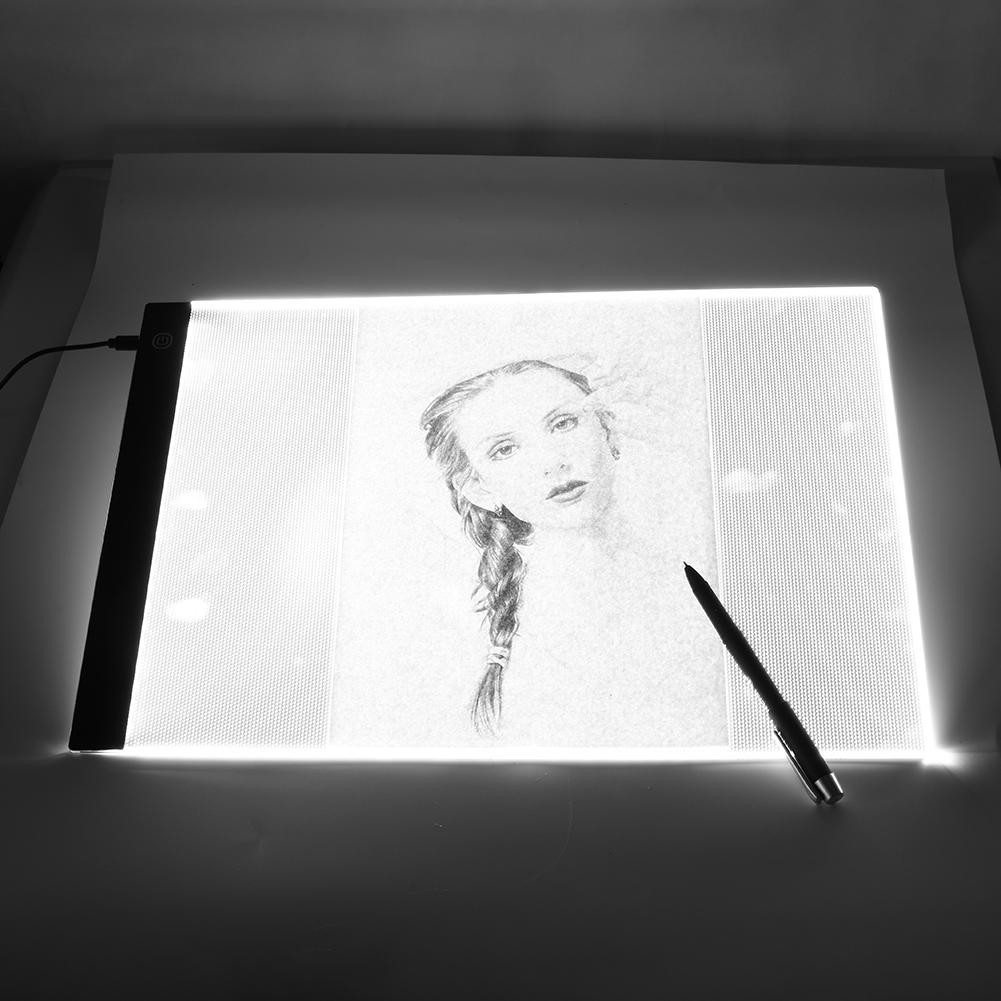 New Arrival A3 Led Light Box Touch Control Dimmable Drawing Tracing Animation Copy Board Table Pad Shopee Malaysia