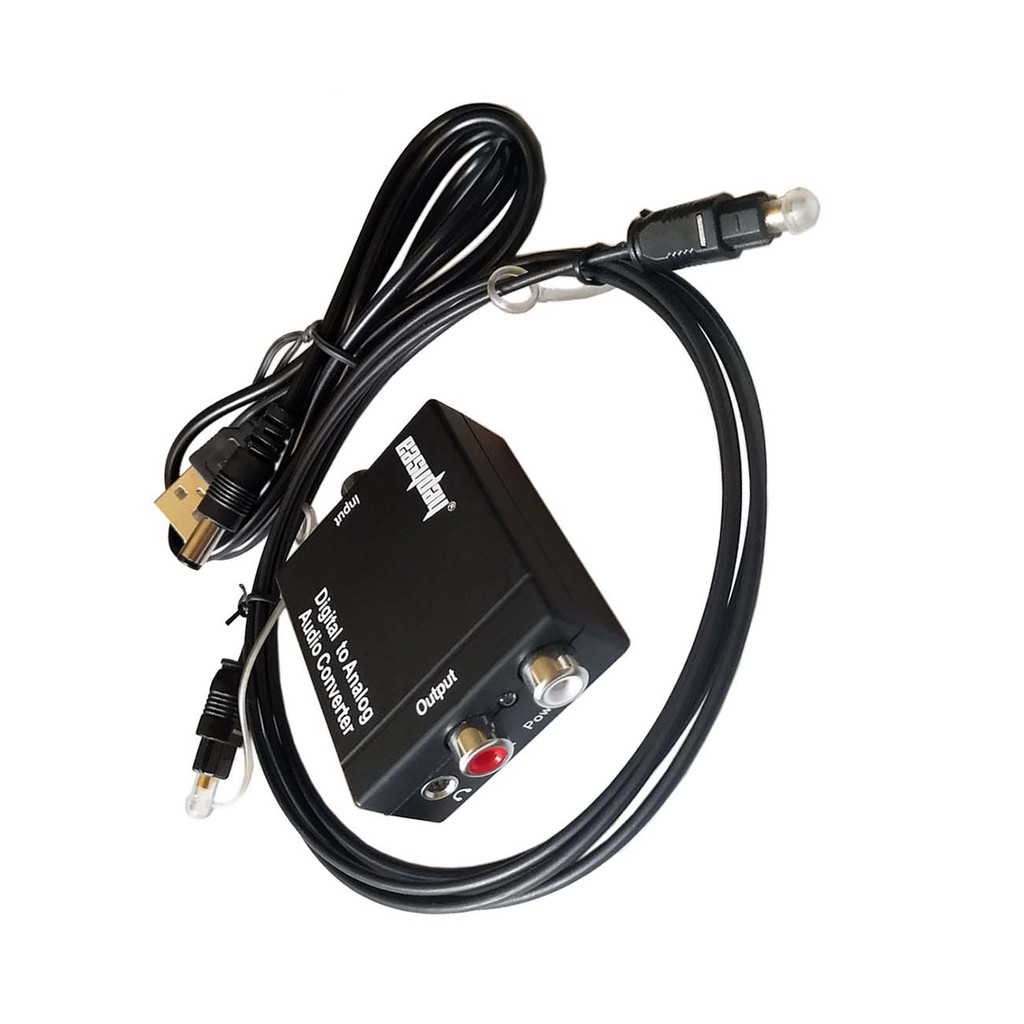 Easyday Black Digital Optical Coaxial Toslink Signal to Analog ...