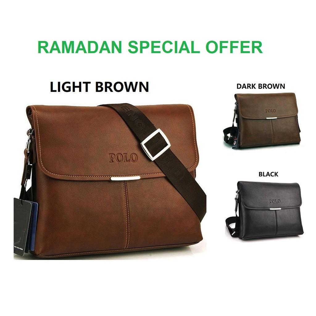 58ae79a9da78 Premium Polo Videng 3001-3 Horizontal Leather Shoulder Bag