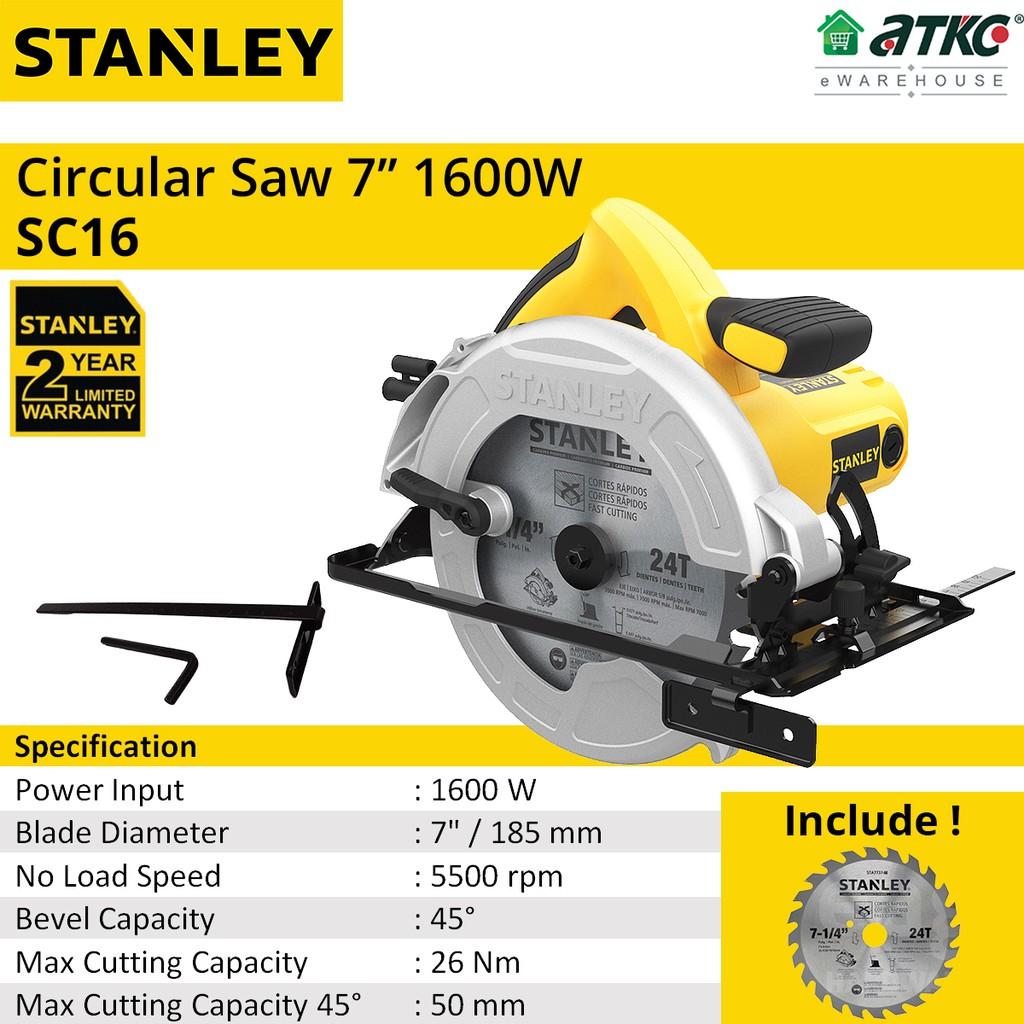 STANLEY SC16 Circular Saw 7'' 1600W (2 YEARS WARRANTY)