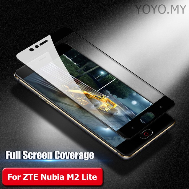 Full Coverage Tempered Glass for ZTE Nubia M2 Lite Screen Protector Glass  Film