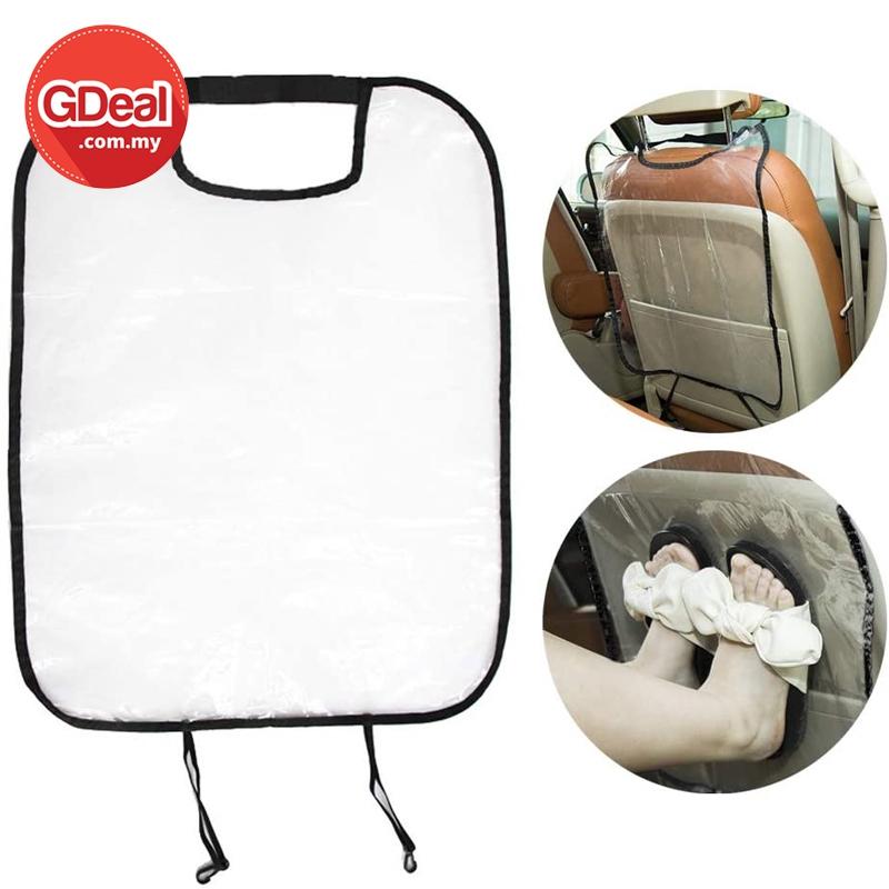 GDeal Transparent Child Car Seat Back Protection Baby Anti Kick Clear Protector Cover Pelindung Kerusi Kereta وسي كريت