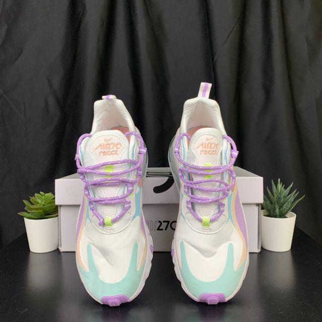 Nike Air Max 270 React women Running Shoes Coral Stardust Premium