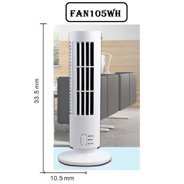 [ READY STOCK ]  USB leafless Fan Mini Tower Electric Fan Vertical Air Condition Fan Desktop Cold Fan Kipas Meja
