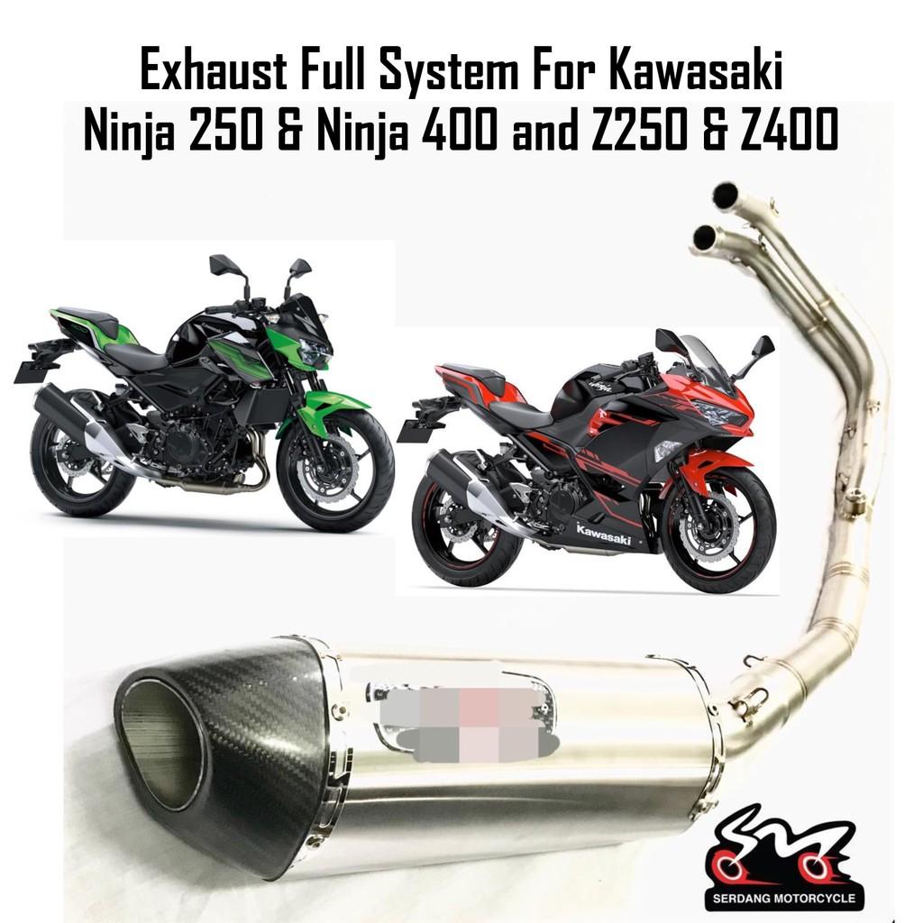 Exhaust Full System Kawasaki Ninja250 Ninja 400 Z250 Z400 Ninja 250 Ninja  400 Sistem Penuh