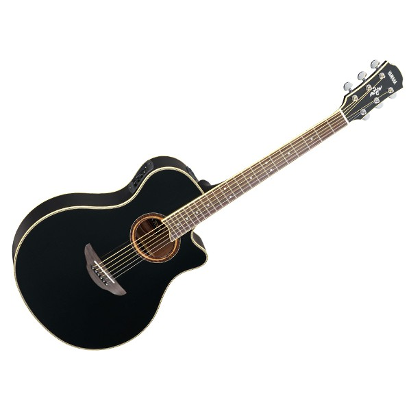Yamaha APX700II 41 Solid Spruce Top Acoustic Electric Guitar With Pickup Black (APX700)