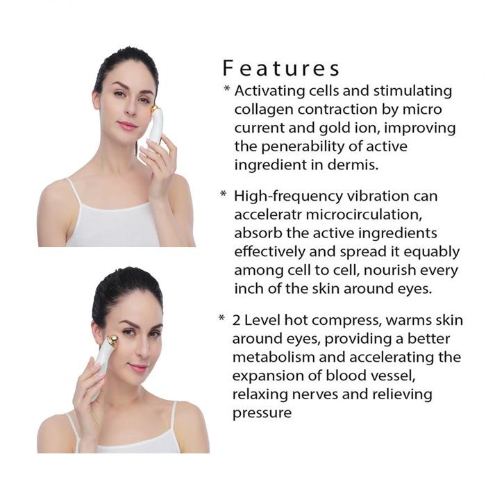 Eye Care EMS Massager Beauty Care Kit Erasing Dark Circle Anti Aging Eyes & Wrinkle Massage Tool