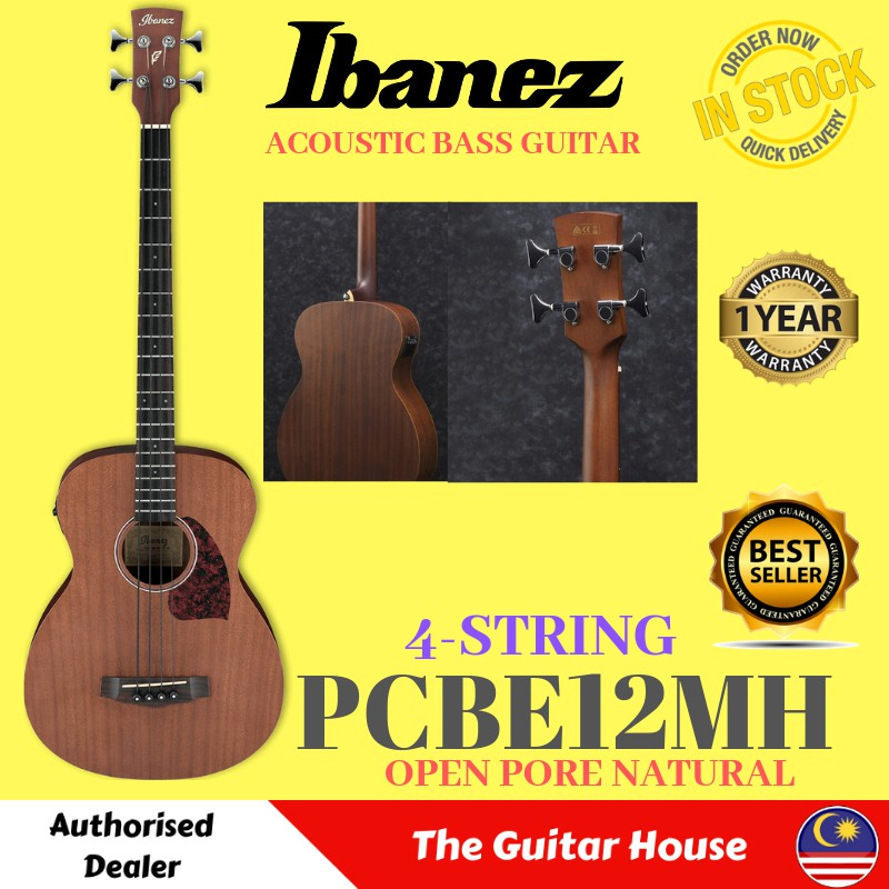 B Stock Acoustic Electric Guitars Ibanez Pcbe12-opn Acoustic Bass Guitar With Pick-up