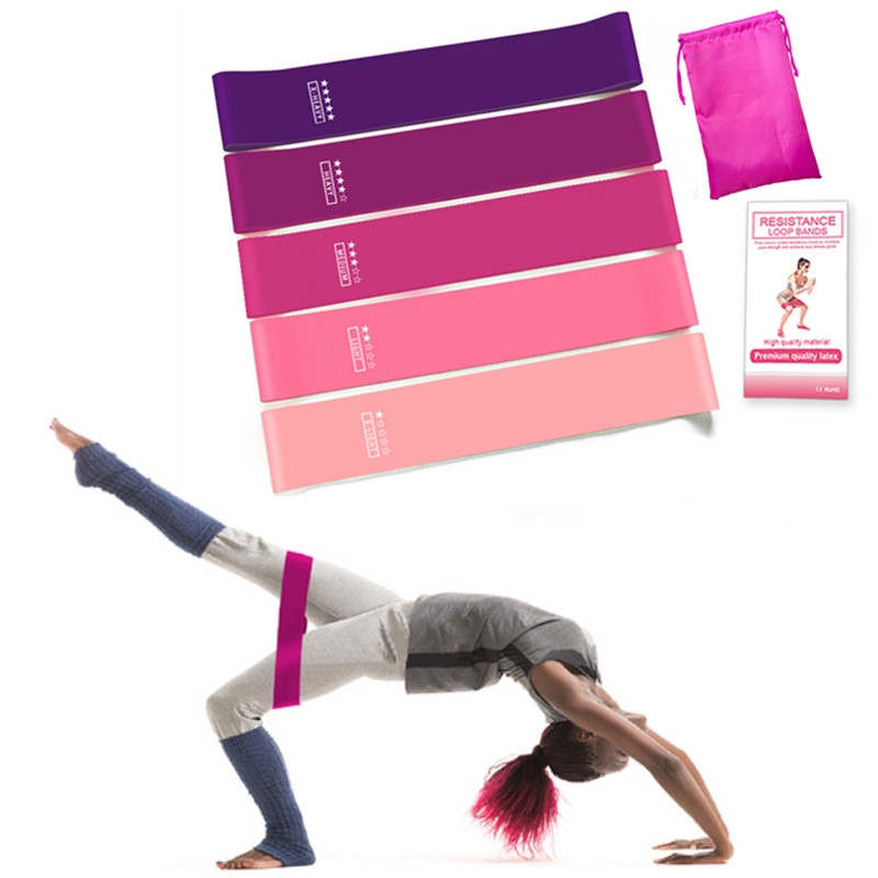 Resistance Bands Loop Set Of 5pcs Exercise CrossFit Fitness Yoga Booty Band BP