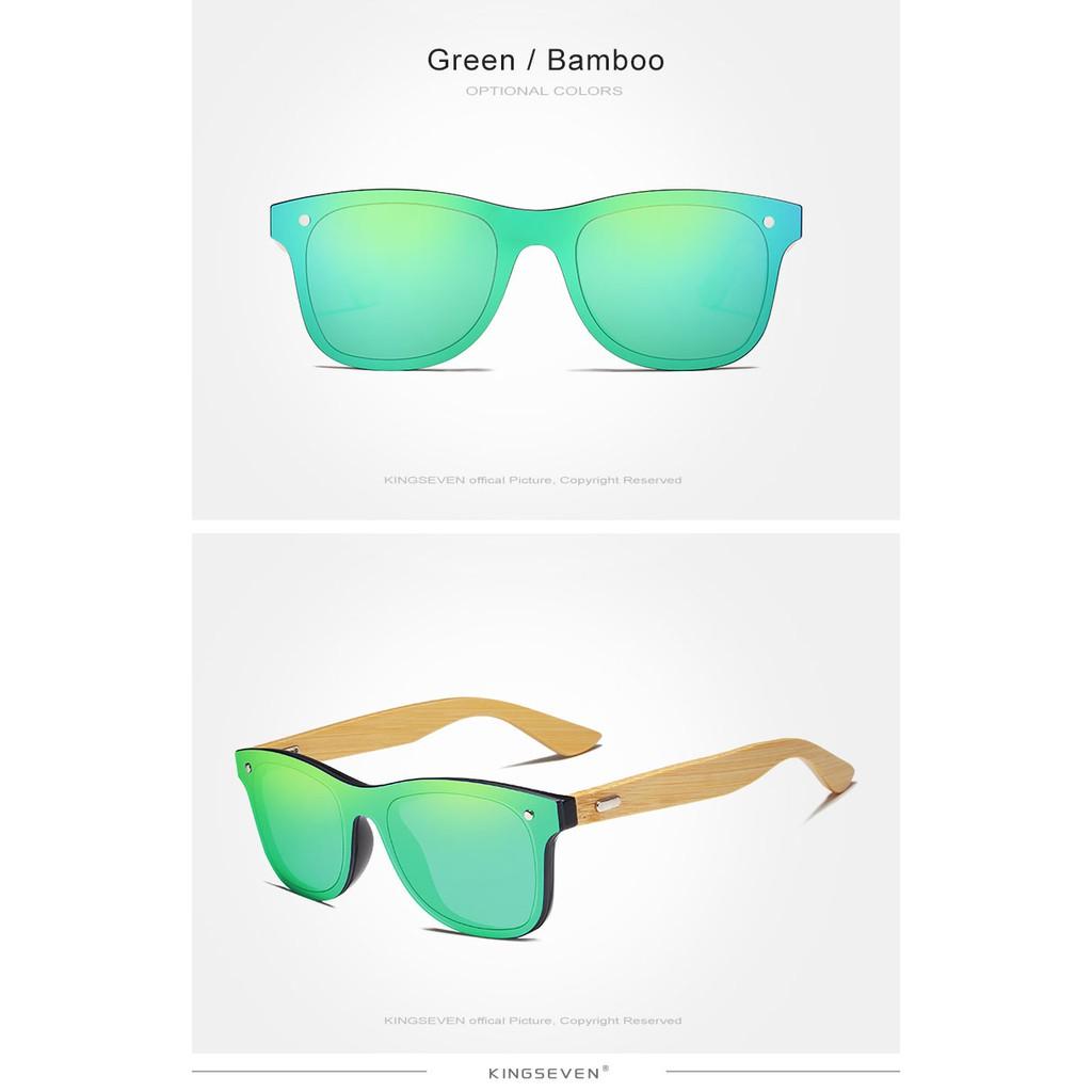 Kingseven 2018 Bamboo Mens Polarized Wooden Sunglasses Original