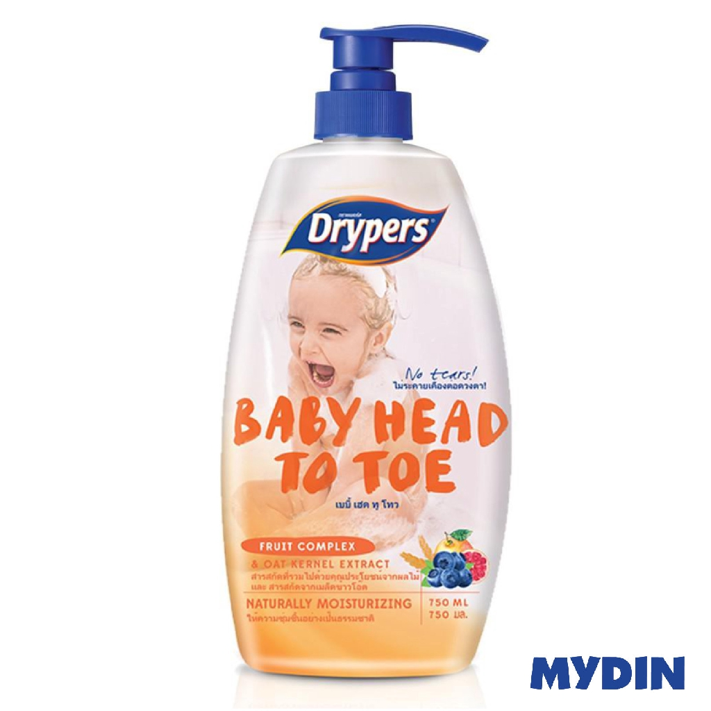 Drypers Baby Head To Toe - Fruit Complex (750ml)