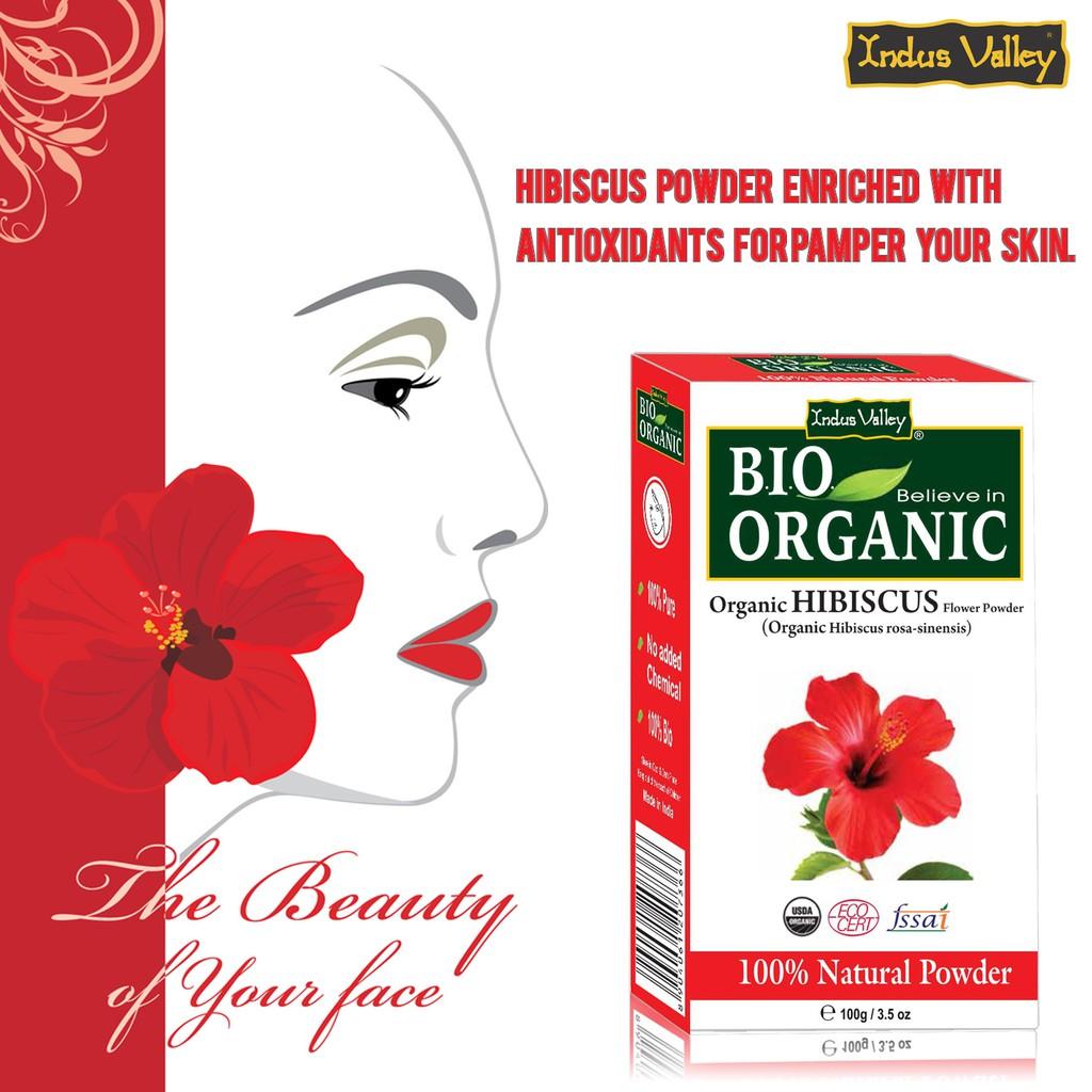 Indus Valley 100 Organic Hibiscus Powder 100 G Ready Stock