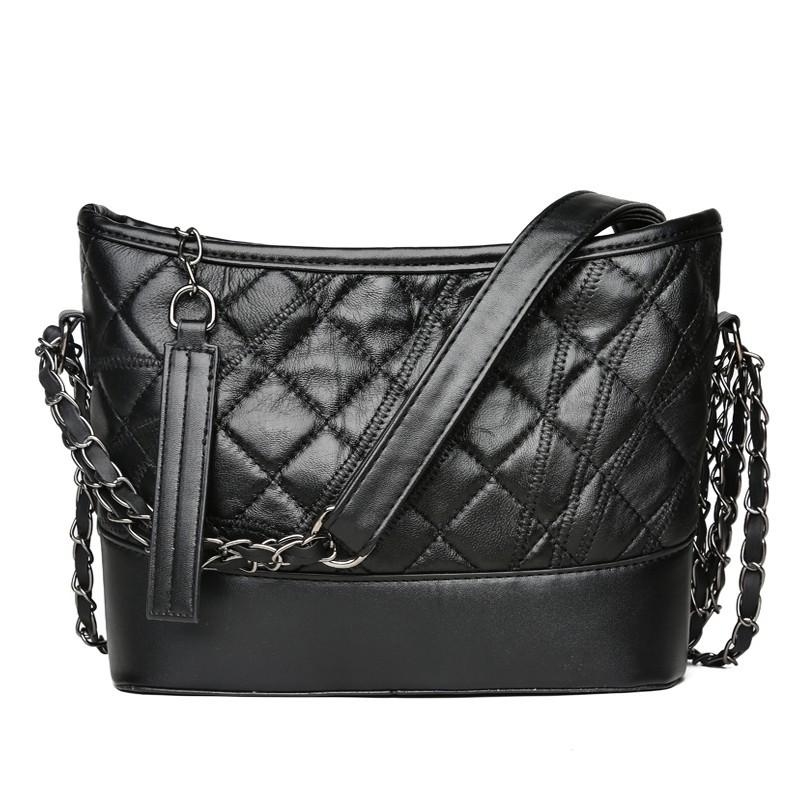 2d3fdcfae75 Fashion stitching sheepskin Rich and generous Ms. Shoulder bag Messenger  Bag beg