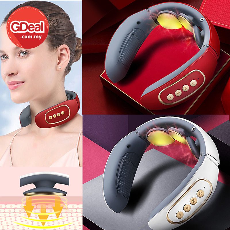 GDeal 3 Head Cervical Massager 4 Modes Electric Neck Pain Massager With Massage Pads For Body