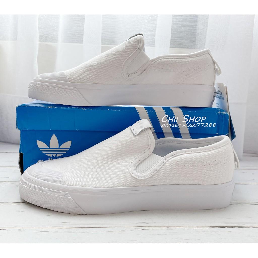 noioso Vasta gamma cavo  Korea Adidas Nizza Slip On W Lazy Shoes White Cq 3103 | Shopee Malaysia