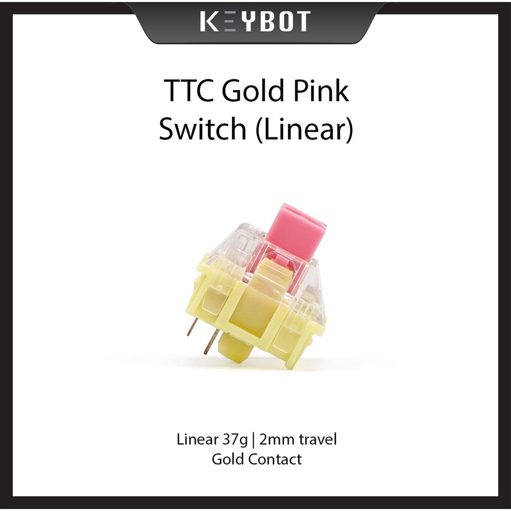 TTC Gold Pink mechanical keyboard