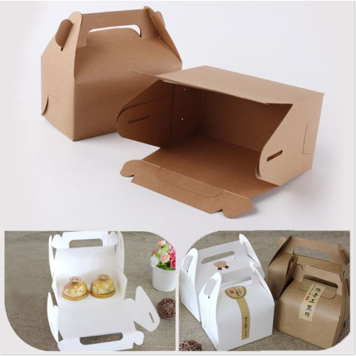 10pcs Paper Gable Boxes Candy Cake Boxes Wedding Shower Birthday Party Gift