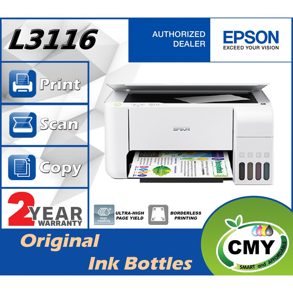Epson EcoTank L3116 All-in-One Ink Tank Printer Similar as L3110