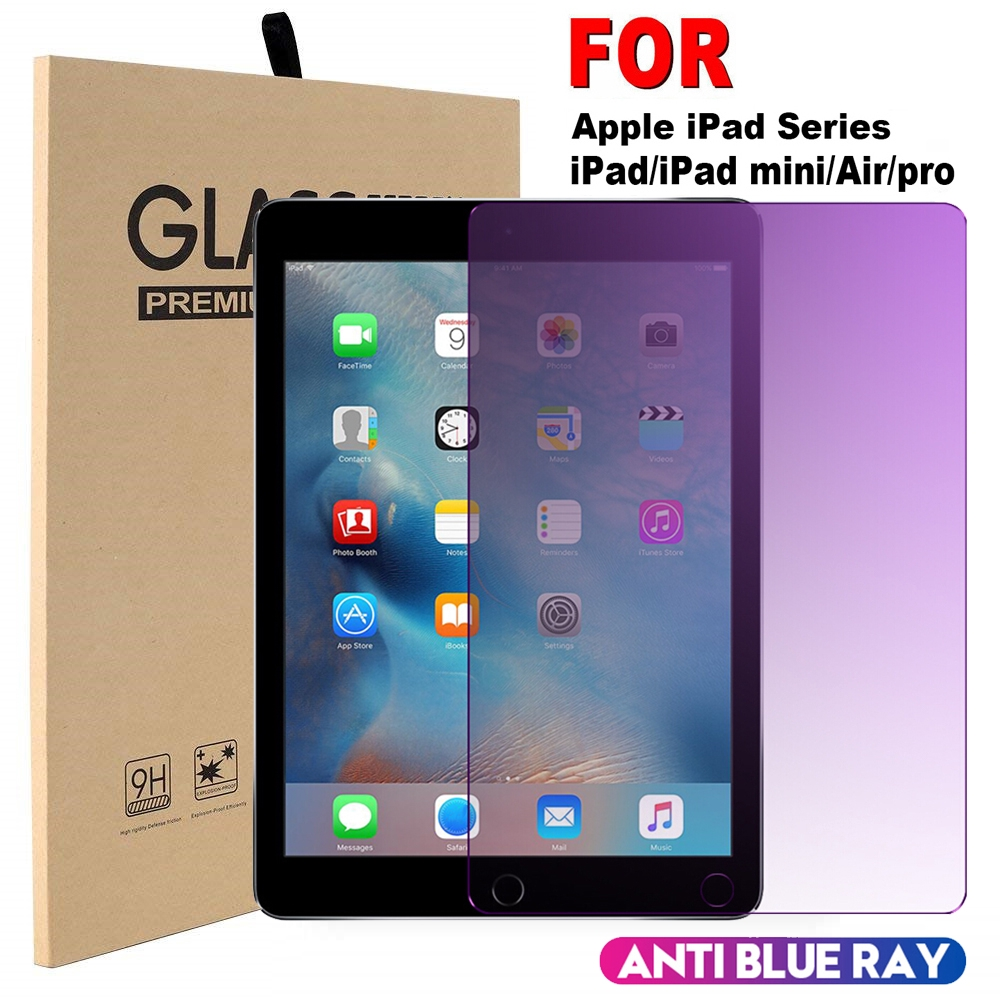 Blue Light Blocking Tempered Glass Screen Protector All iPad 1//2//3//4// mini 4//Air