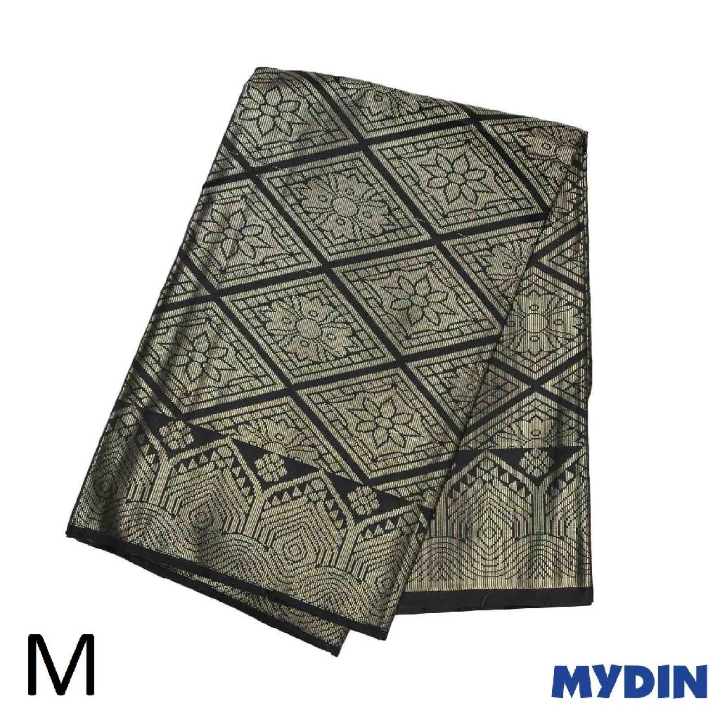 "Men Sampin M Raya - Gold on Black with Designs (2m x 32"") 0819SRLXBP01"