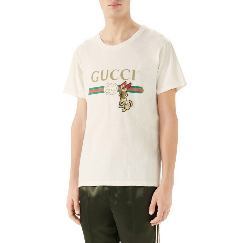 17a6686b High Quality Gucci T Shirts Men Women joker 2018 new short sleeve cotton  tops