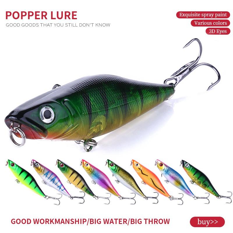 New Hard Hard Bait  Popper Minnow Fishing Lures Crankbaits 45mm 4.4g Baits Hook