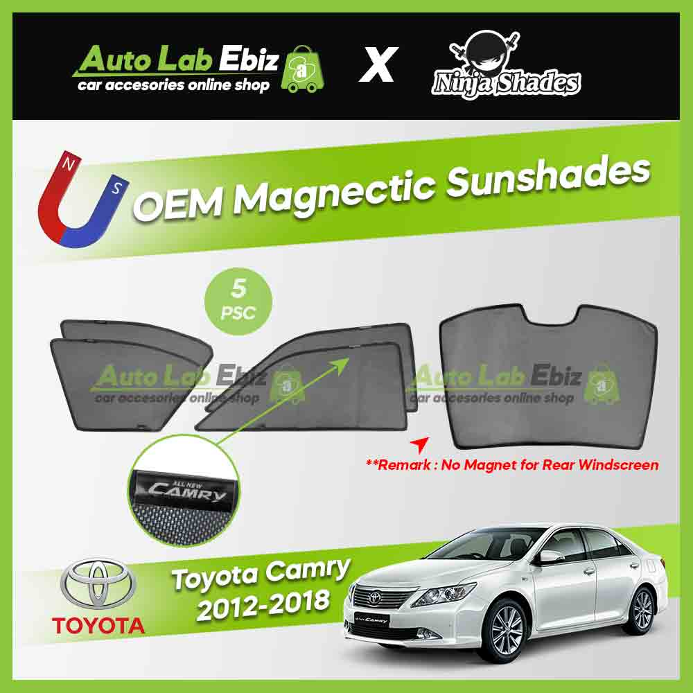 Toyota Camry XV50 2012-2018 Ninja Shades OEM Magnetic Sunshade (5pcs)