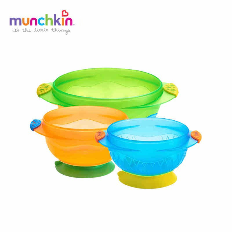 Cheap Sale Munchkin 3 White Hot Bowls 6m+ Feeding