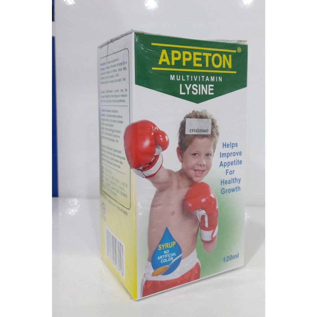 Appeton Multivitamin Lysine 120ml Shopee Malaysia Syrup