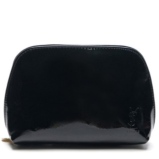 real quality top style 2019 best sell [AUTHENTIC]Yves Saint Laurent YSL Glossy Black Clutch