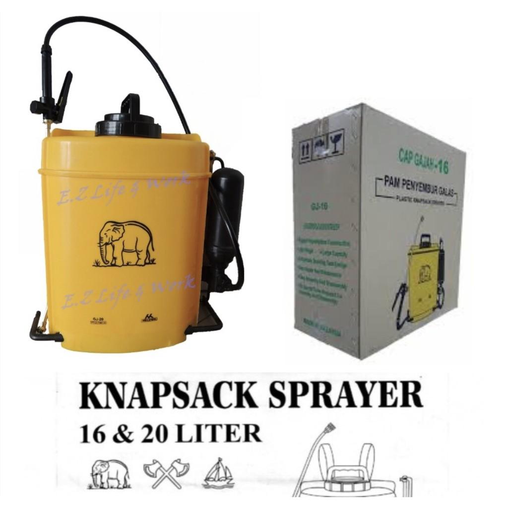 16Ltr/ 20ltr GAJAH PLASTIC KNAPSACK SPRAYER / PAM RACUN GJ-16/GJ-20