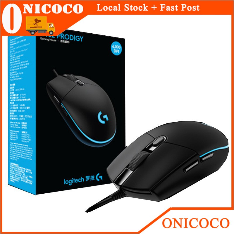 Logitech G102 Prodigy Wired USB Gaming Mouse 6 Programmable Keys RGB  Backlight