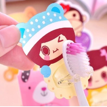 Cartoon Creative Wall Suction Toothbrush Holder Magic Seamless No Glue Hook Toothbrush Hanging