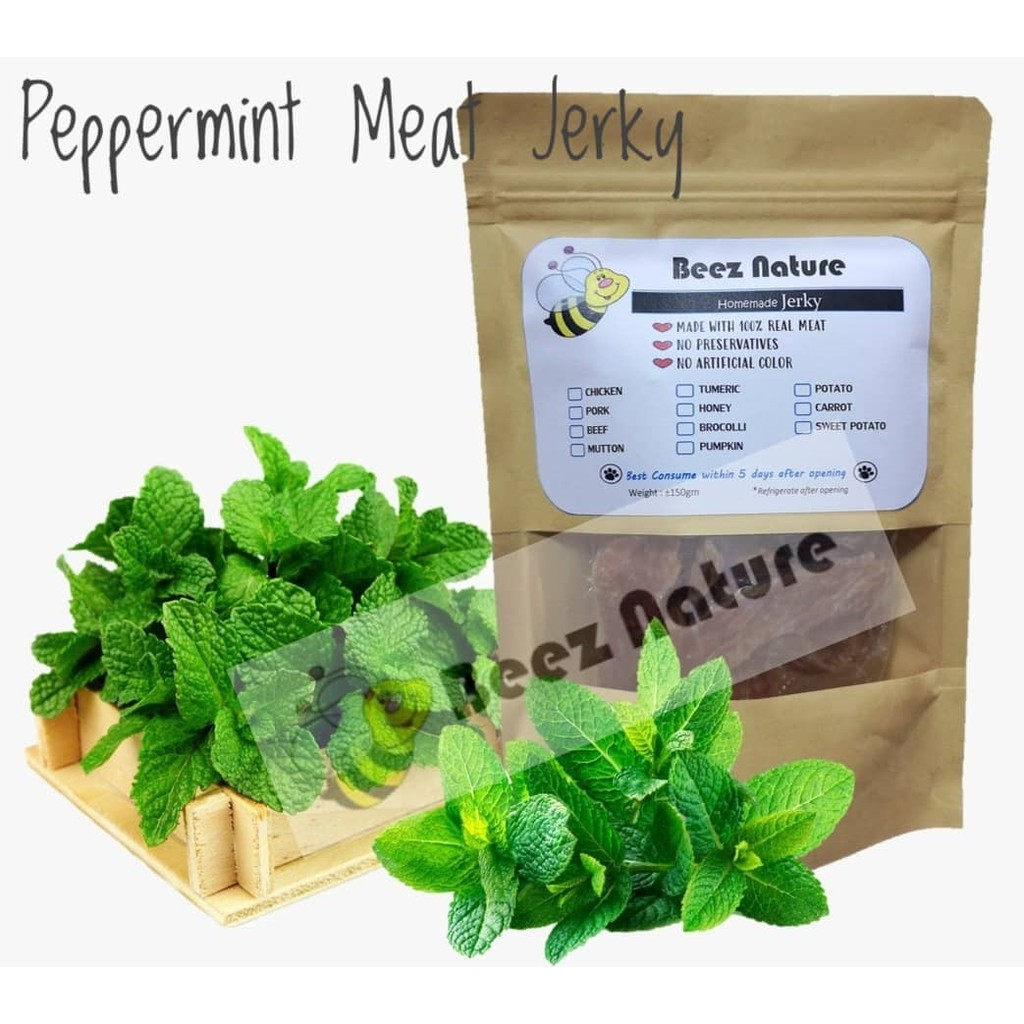 Homemade Natural Jerky with PEPPERMINT 80gm [Made to order]