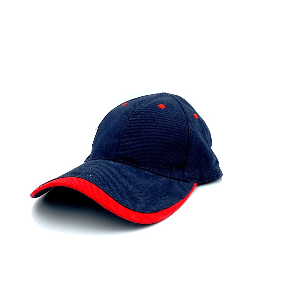 [READY STOCK] Baseball, Unisex 6 Panels Cotton Brush Caps - 7 Colors