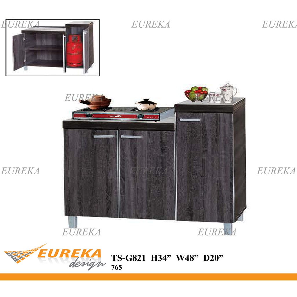 Eureka 4ft Gas Kitchen Cabinet Kabinet Dapur Gas 3 Door Deliver Installation Klang Valley Shopee Malaysia