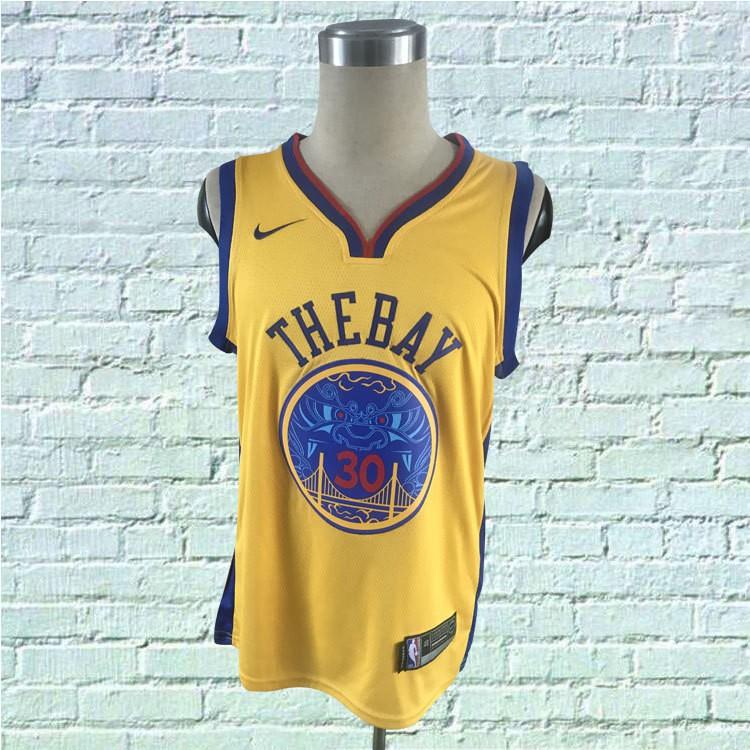 finest selection e175d fdc91 2018 Original Nike NBA Golden State Warriors Stephen Curry #30 yellow  basketball jerseys S-XXL