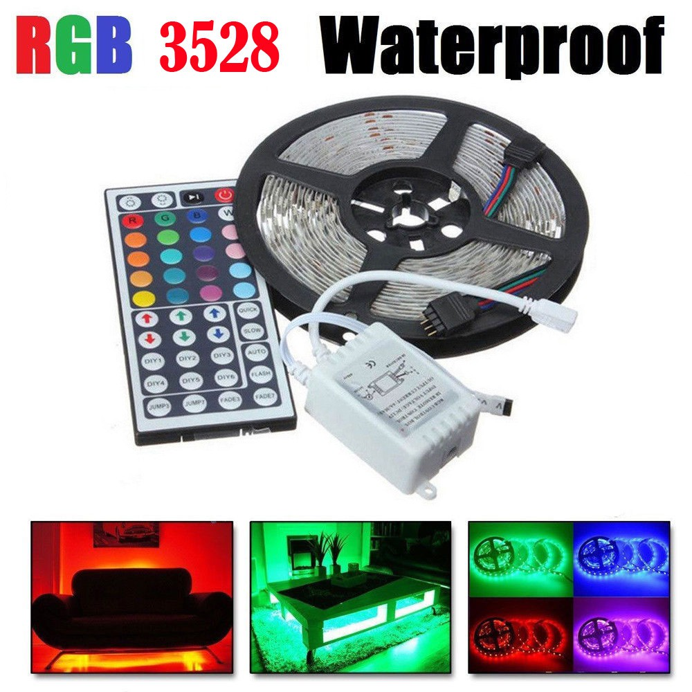 10M 3528 RGB 300 LED SMD Flexible Light Strip Lamp 44key Remote control