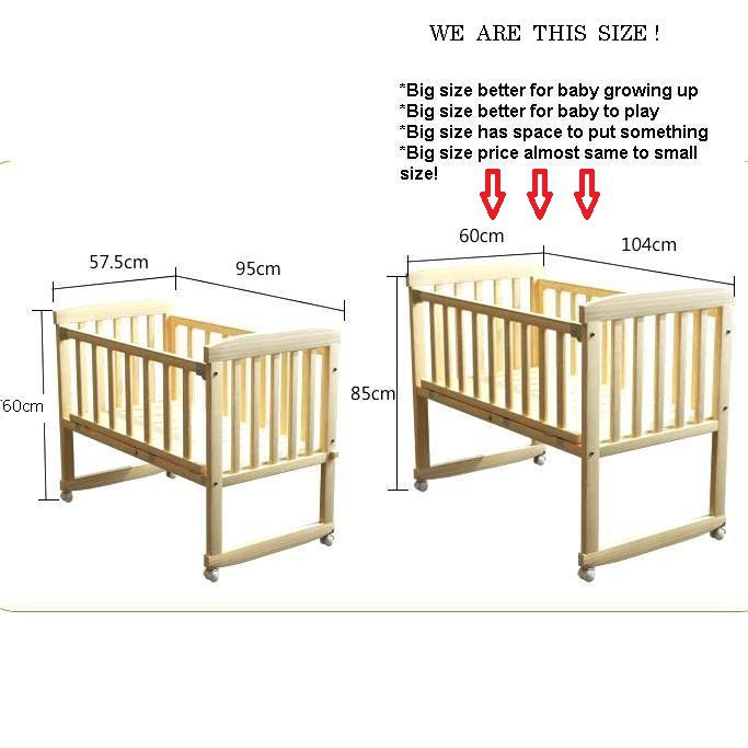 premium selection 4d749 af96b Big discount! FULL SET Big Size Baby Cot Bed with Mattress