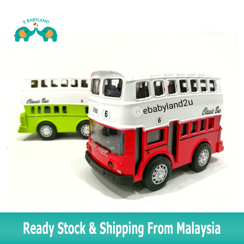 Kids Toys Pull Back Metal Classic Bus/ Van