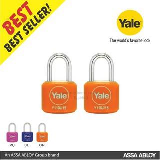 Yale Y110J/15/111/2 (set of 2pc) Travel Luggage Padlock 15mm key-a-like