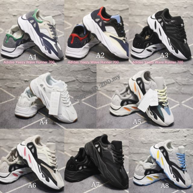 sports shoes a3570 f03b2 Available Ready StockOriginal real boost edition Adidas Yeezy Wave Runner  700 bo