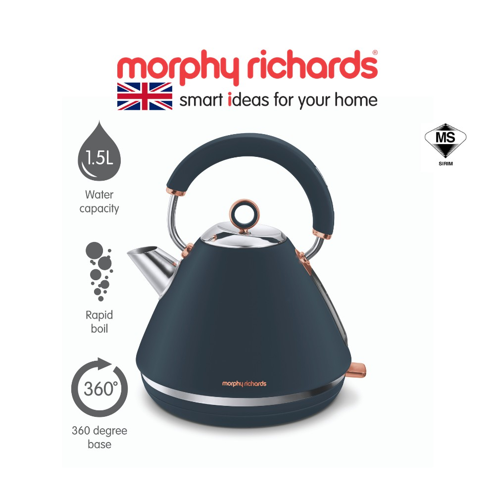 [NEW ARRIVAL] Morphy Richards Accents Pyramid Kettle Midnight Blue 102039